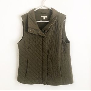 Eileen Fisher Quilted Brown Vest